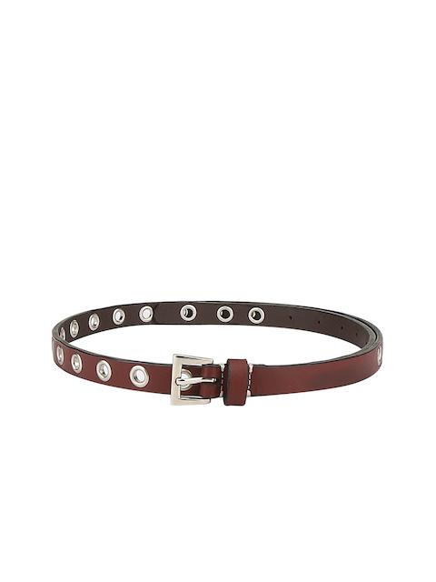 Aditi Wasan Women Maroon Solid Belt