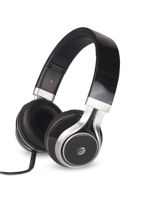 AT&T Black Over-Ear Stereo Noise Cancelling Headphones with Extra Bass HP10