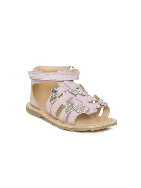 Aria Nica Girls Lavender Alice Leather Comfort Sandals
