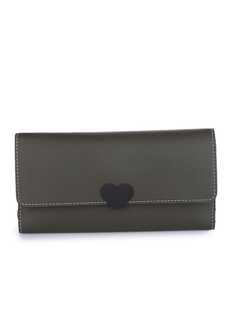 Alvaro Castagnino Women Green Solid Two Fold Wallet