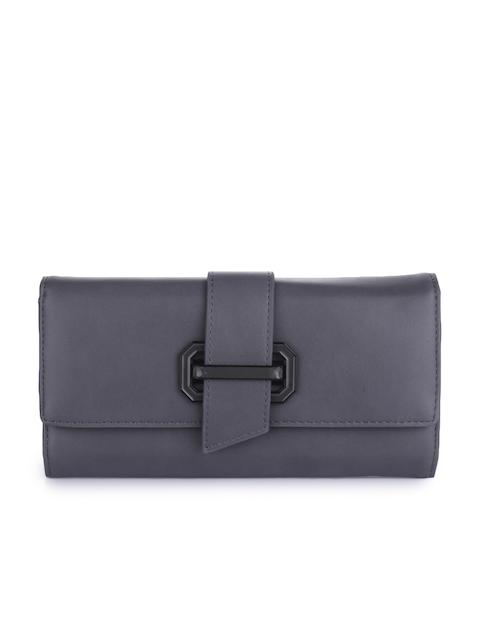 Alvaro Castagnino Women Grey Solid Two Fold Wallet