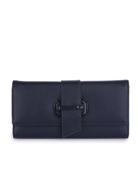 Alvaro Castagnino Women Navy Blue Solid Two Fold Wallet