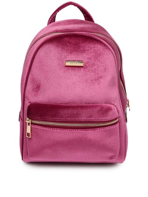ALDO Women Pink Solid Backpack