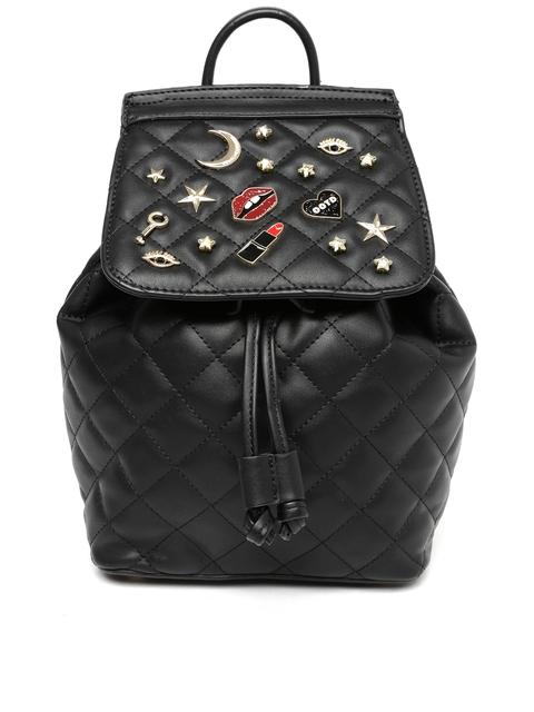 ALDO Women Black Embellished Backpack