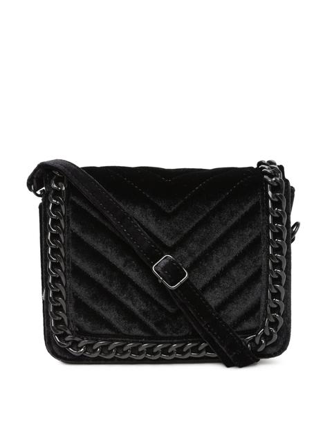 ALDO Black Textured Sling Bag
