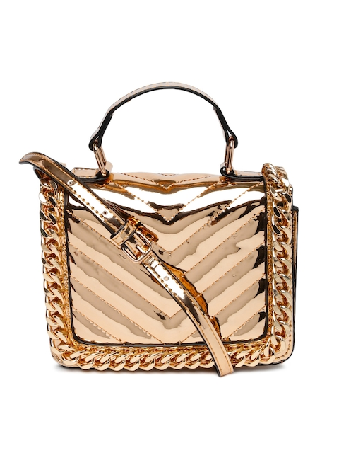 ALDO Rose Gold-Toned KAVEN Quilted Satchel
