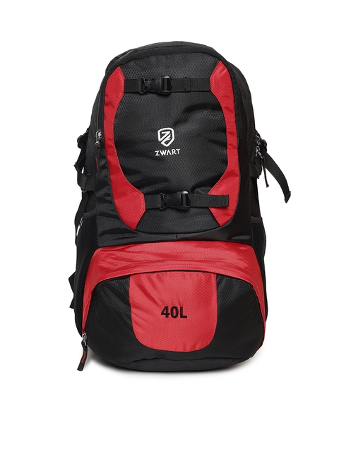 Zwart Unisex Black & Red Rucksack