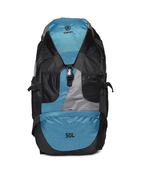 Zwart Unisex Black & Blue Rucksack