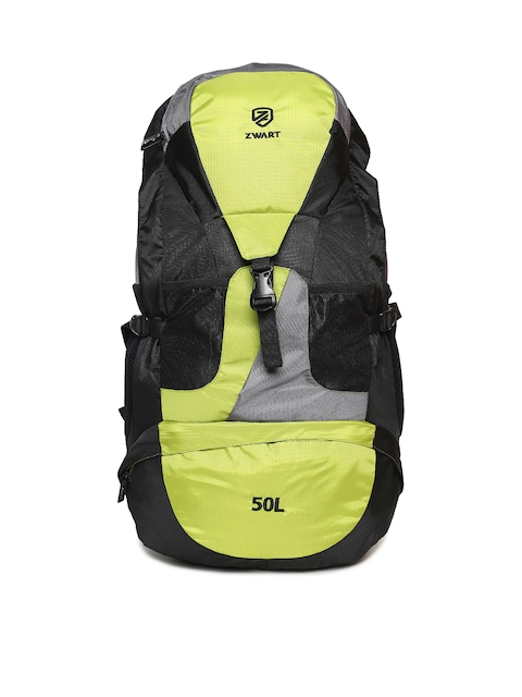 Zwart Unisex Black & Yellow Rucksack