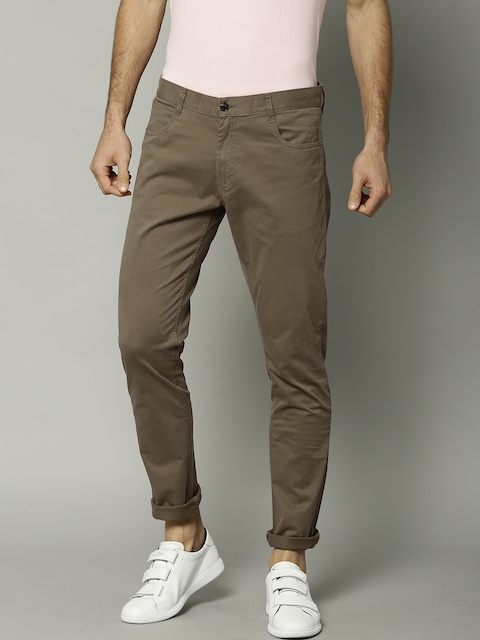 French Connection Men Brown Regular Fit Solid Chinos