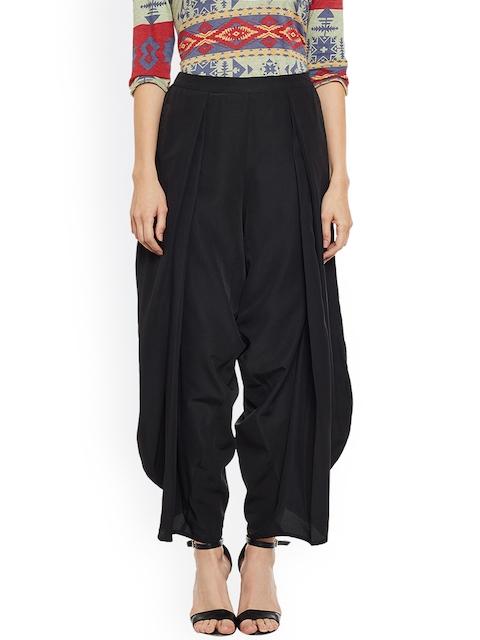 Popnetic Women Black Relaxed Flared Solid Jodhpuris