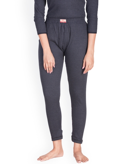 Dollar Ultra Charcoal Grey Self-Design Thermal Trousers