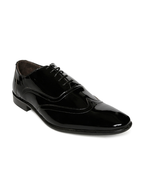Urban Country Men Black Leather Oxfords