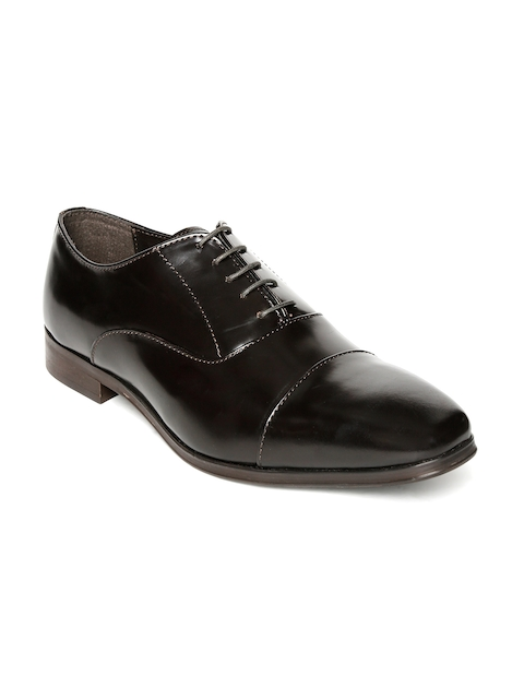 Urban Country Men Coffee Brown Leather Formal Oxfords