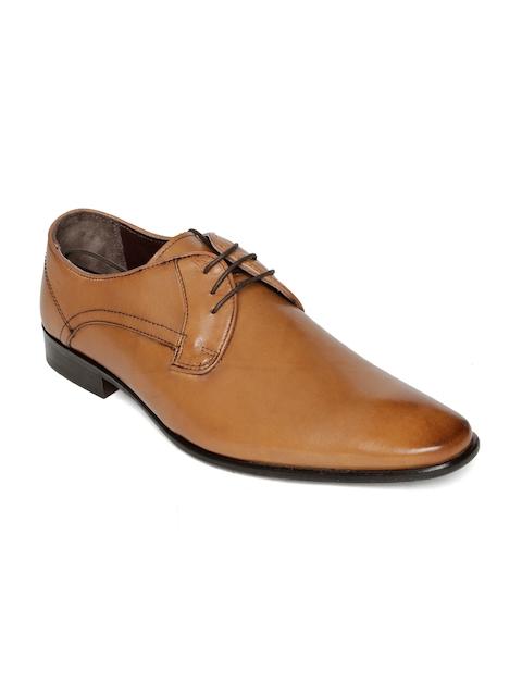 Urban Country Men Tan Brown Leather Formal Derbys