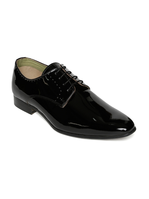 Urban Country Men Black Formal Derbys