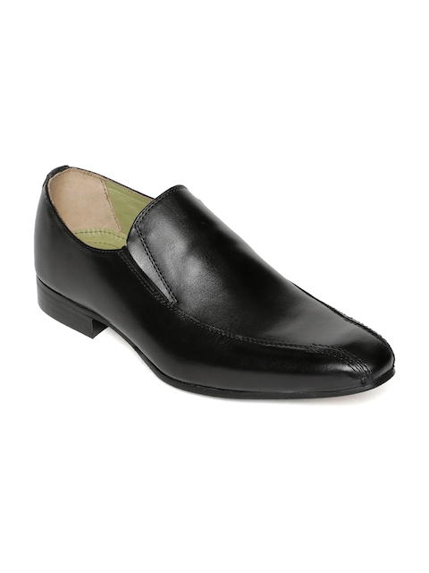 Urban Country Men Black Leather Semiformal Shoes