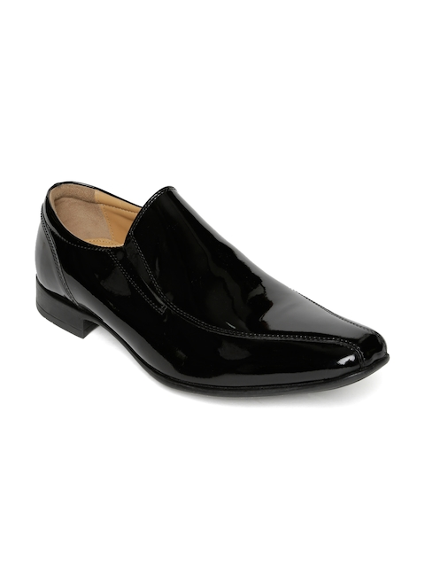 Urban Country Men Black Patent Leather Semiformal Shoes