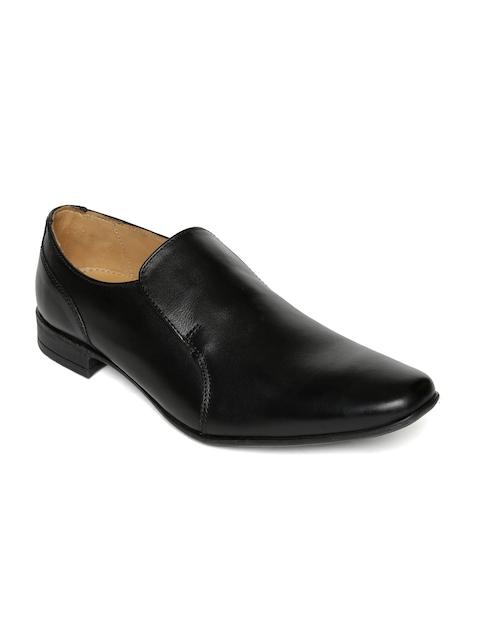Urban Country Men Black Leather Semiformal Shoes