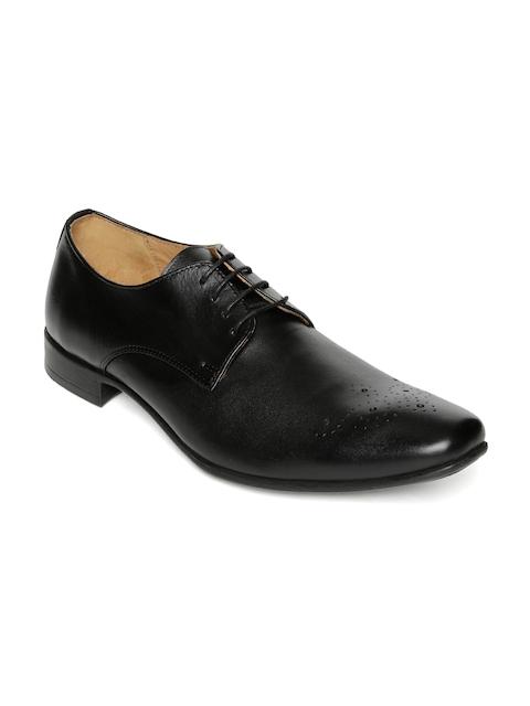 Urban Country Men Black Leather Formal Derbys