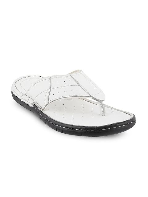 Metro Men White Comfort Sandals
