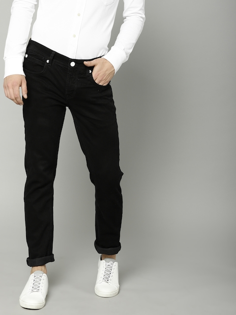 French Connection Men Black Skinny Fit Mid-Rise Clean Look Stretchable Jeans