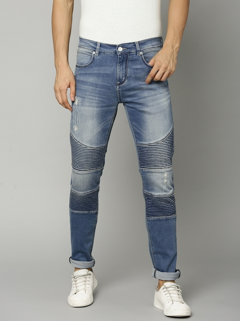 French Connection Men Blue Regular Fit Mid-Rise Mildly Distressed Stretchable Jeans