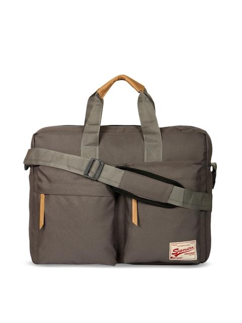 Impulse Unisex Grey Solid Laptop Bag