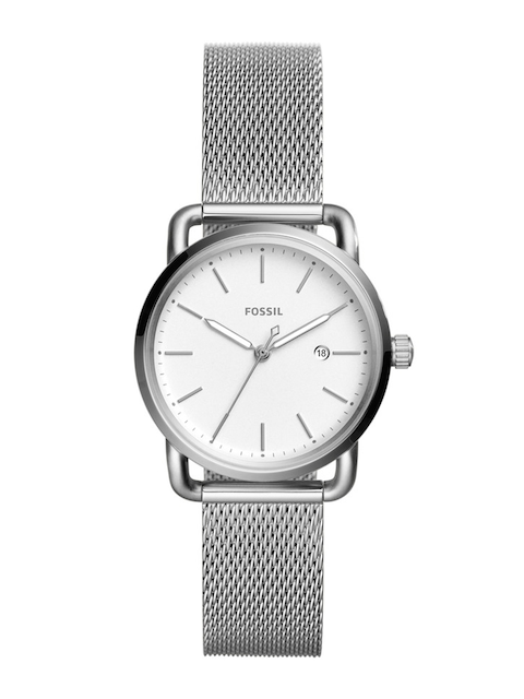 Fossil Women White & Silver-Toned Analogue Watch ES4331