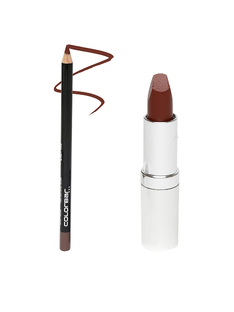 Colorbar Chocolate Brown Lip Liner 014 & Gingerbread Matte Touch Lipstick 45 M