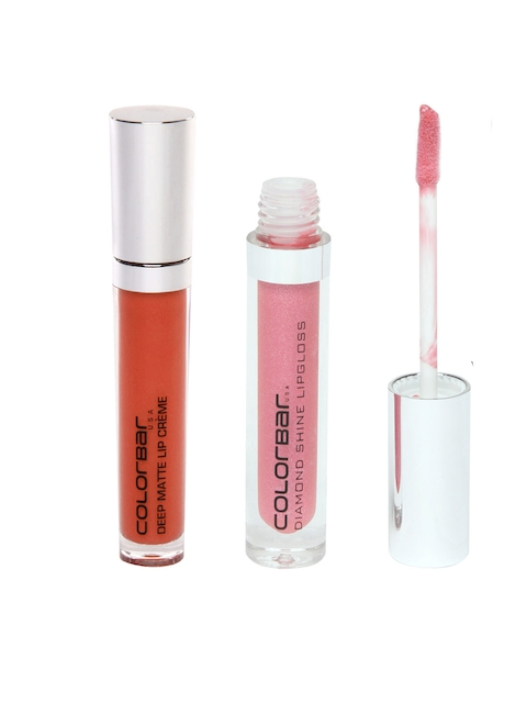 Colorbar Deep Rust Deep Matte Lip Creme 006 & Irish Pink Diamond Shine Lip Gloss 003