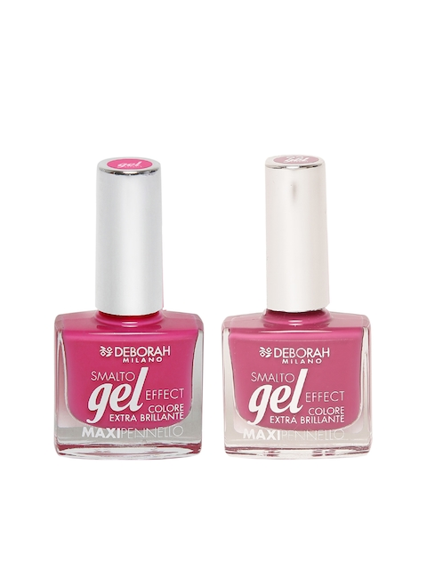 Deborah Milano Smalto Gel Effect Mixed Berries Maxipennello Nail Polish 20 & Maxipennello Sahari Pink Nail Polish 92