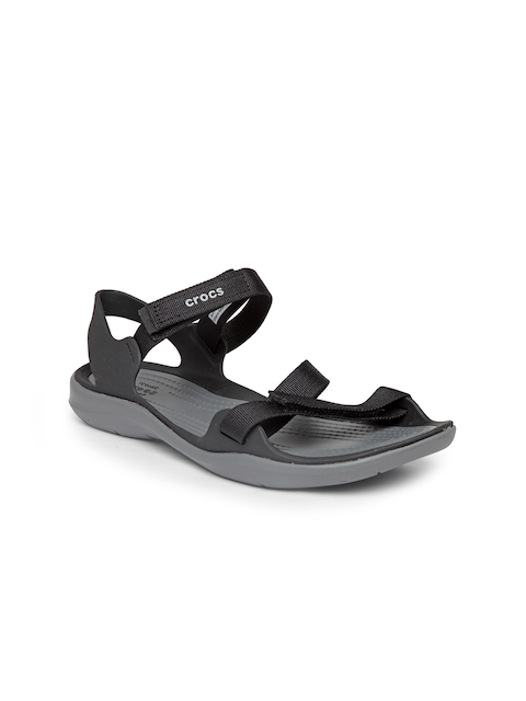 Crocs Women Black Comfort Sandals