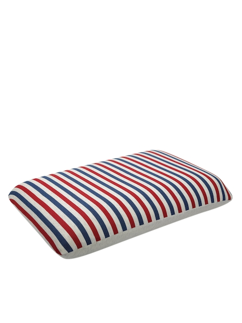 Raymond Home Red & Blue Striped Anti-Microbial Pillow