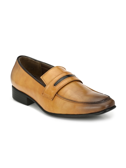BRUNE Men Tan Brown Semiformal Shoes