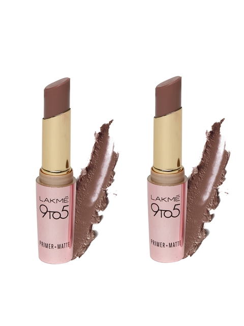 Lakme 9 to 5 Primer+Matte Espresso Shot Lipstick MB11 & 9 to 5 Primer+Matte Choco Break Lipstick MB12
