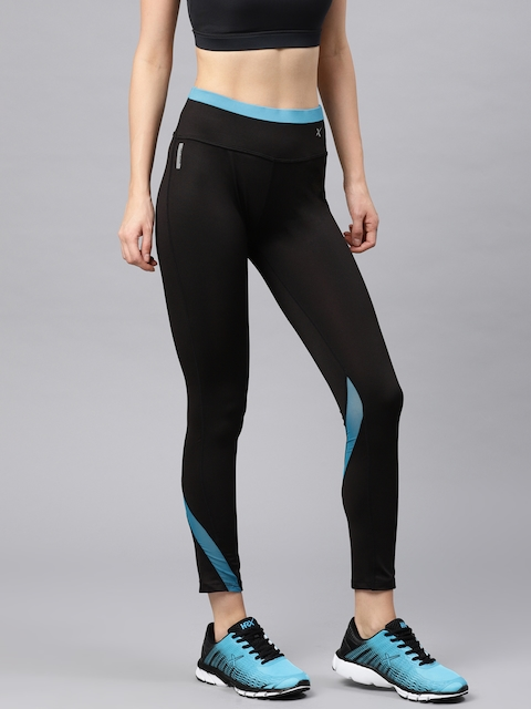 HRX Active by Hrithik Roshan Women Black Solid Tights