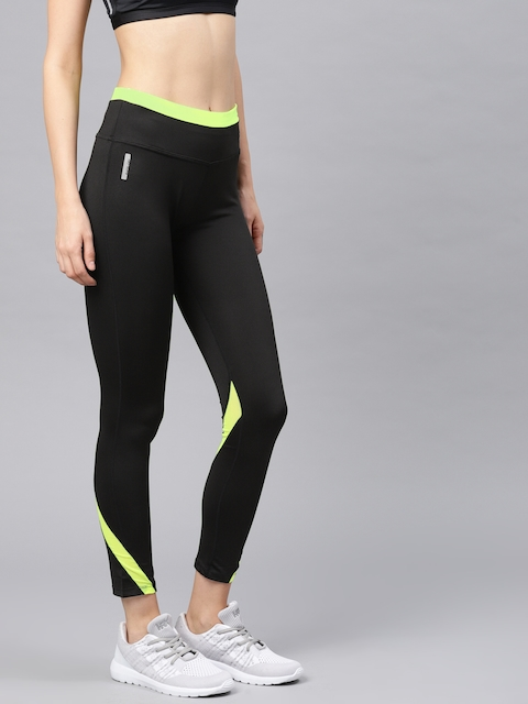 HRX Active by Hrithik Roshan Active Women Black RAPID-DRY Tights