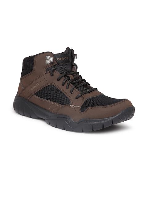 Crocs Men Brown Flat Boots