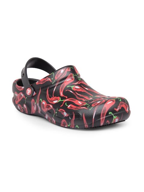 Crocs Men Black & Red Clogs