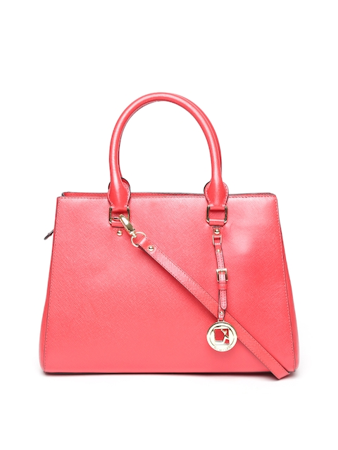 Da Milano Red Leather Handheld Bag