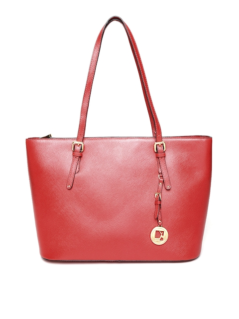 Da Milano Red Leather Shoulder Bag