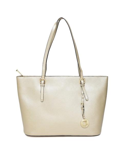 Da Milano Gold-Toned Leather Shoulder Bag