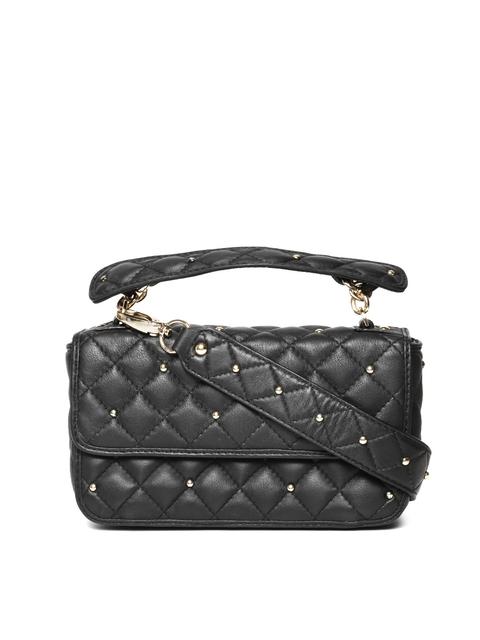 Da Milano Black Quilted Leather Handbag
