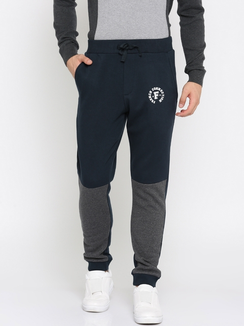 French Connection Navy & Grey Colourblocked Joggers
