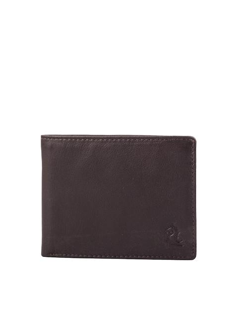 Kara Men Brown Solid Two Fold Genuine Leather Wallet