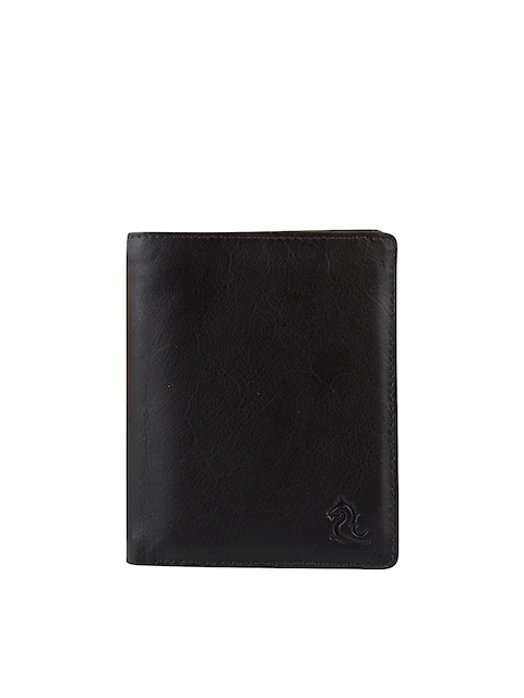 Kara Men Brown Solid Three Fold Wallet