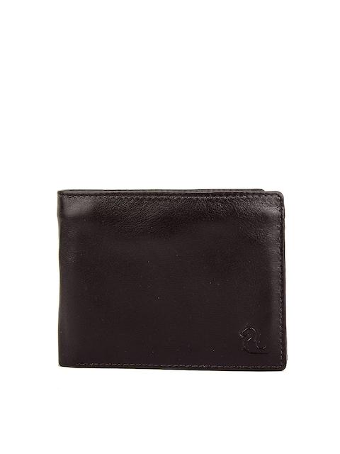 Kara Men Brown Solid Two Fold Wallet