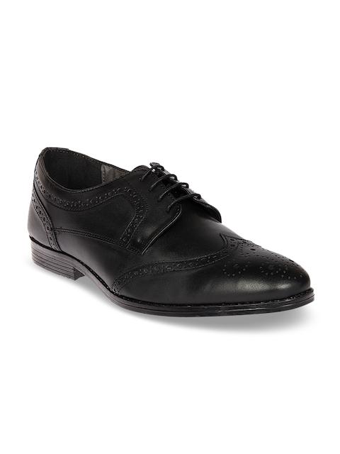 Knotty Derby Men Black Leather Formal Brogues