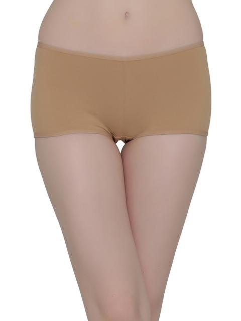 Clovia Women Beige Solid Boy-shorts PN2152P24M